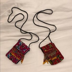 Handbags - Embroidered cell phone bags, you get TWO